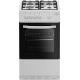 Zenith ZE501W 50Cm Single Oven Gas Cooker With Gas Hob - White - A Energy Rated