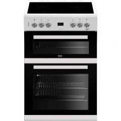 Beko EDC633W Freestanding Double Oven with Grill In White