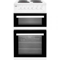 Beko EDP503W Double Oven Electric Cooker A Rated On Energy