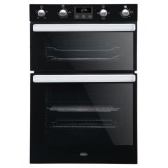Belling BI902FPBLK Belling 444444786 Electric Equiflow™ Fan Oven Double Oven Oven - Black - A Energy