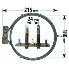 Compatible Belling Cooker Fan Oven Element 2 Turn ELE2048