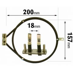 Cooker Fan Oven Element AEG / Beko / Proline 2000W ELE2079