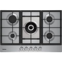 Blomberg GMB83512 75Cm Gas Hob - Stainless Steel Trim