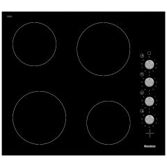 Blomberg MKN24001 Ceramic Hob With Control Knobs and 4 Zones Black