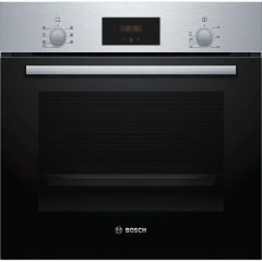 Bosch HBF113BR0B A Energy Rated, Electric, 66Ltr Capacity, Fan Oven, Fixed Integral Grill, 2X Shelve