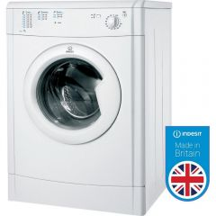 Indesit IDV75 B Energy Rating, 12 Programmes, Refresh Option, Timed Drying, White, H85x W59.5X D55