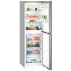 Liebherr CNEL4213 No Frost Fridge Freezer Freestanding In Silver 60cm Wide