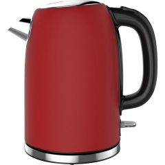 Linsar JK115RED JK115Red Electric Jug Cordless Kettle, 1.7L Capacity, 2520-3000w, Dry Boil Protectio