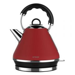 Linsar PK117RED PK117Red Electric Pyramid Cordless Kettle, 1.7L Capacity, 2520-3000w, Dry Boil Prote