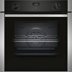 Neff B3ACE4HN0B Single Oven Slide + Hide Door Stainless Steel