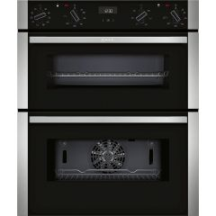 Neff J1ACE4HN0B CircoTherm Main oven, 7 functions, 1 ClipRail, EcoClean back, LCD display. 2nd oven