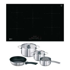 Neff T48FD23X2KIT 148T48FD23X2 Induction Hob  Combizone, 2 Individual Cooking Zones or 1 Large Combi