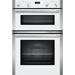 Neff U1ACE2HW0B CircoTherm Main oven, 5 functions, 1 ClipRail, LCD display. 2nd oven 4 functions