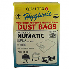 Numatic Vacuum Cleaner Bags Basil, David, Henry, Hetty & James SDB373