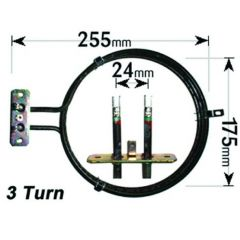 Zanussi Cooker Fan Oven Element 3 Turn 2500W ELE6336