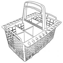 To fit ARISTON, INDESIT, CREDA, HOTPOINT Cutlery Basket MWP51